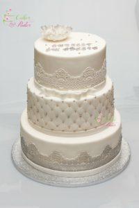 tort na chrzest swiety – komunia swieta – minsk mazowiecki – tort dla dziewczynki – tort dla chlopca – jadalne kwiaty – pikowane pietro – jadalne koronki
