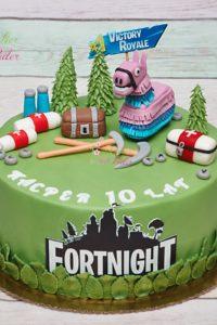 tort na urodziny – urodziny dziecka – minsk mazowiecki – fortnight – victory royale – figurki 3d – recznie rzezbiony – jadalne figurki – tort dla dziewczynki – tort dla chlopca