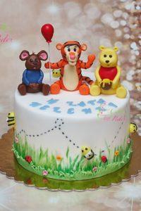 tort na urodziny – urodziny dziecka – minsk mazowiecki – figurka puchatek – figurka tygrysek – figurka malenstwo – recznie malowany – tort dla dziewczynki – tort dla chlopca