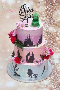 tort na urodziny – urodziny dziecka – minsk mazowiecki – figurka zaby – topper  – zywe kwiaty – tort piętrowy – tort disney – tort dla dziewczynki – tort dla chlopca