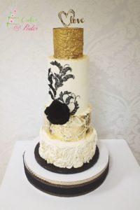 tort na ślub – tort piętrowy – tort artystyczny – mińsk mazowiecki – bogato zdobiony – topper love